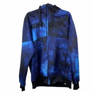 Armada Tie Dye Full Zip Hoodie Blue size Medium